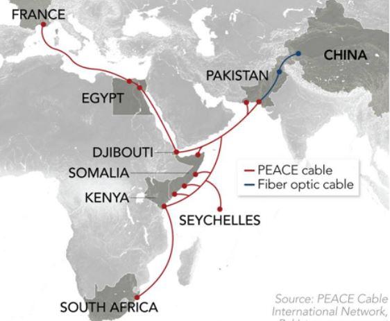 பாகிஸ்தான் ஊடு சீனாவின் Peace Cable, அமெரிக்கா விசனம்