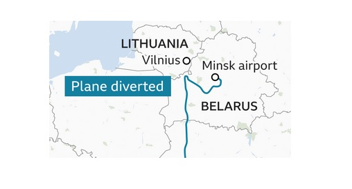 Ryanair விமானியை ஏமாற்றி பயணியை Belarus கைது