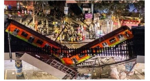 மெக்ஸிக்கோ ரயில் மேம்பாலம் இடிந்து 23 பேர் பலி